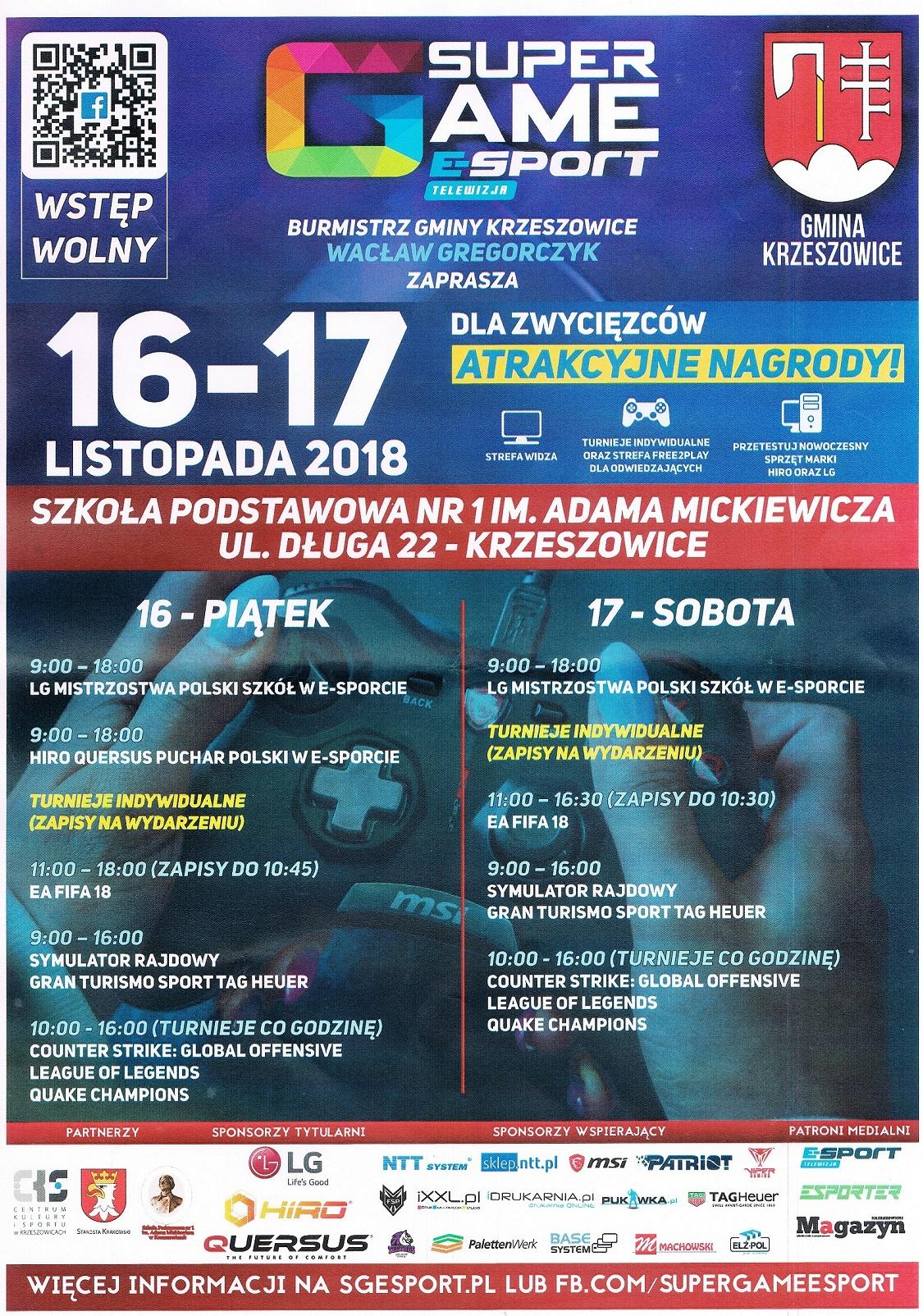 LG Mistrzostwa Polski Szkół w E-Sporcie 16 - 17