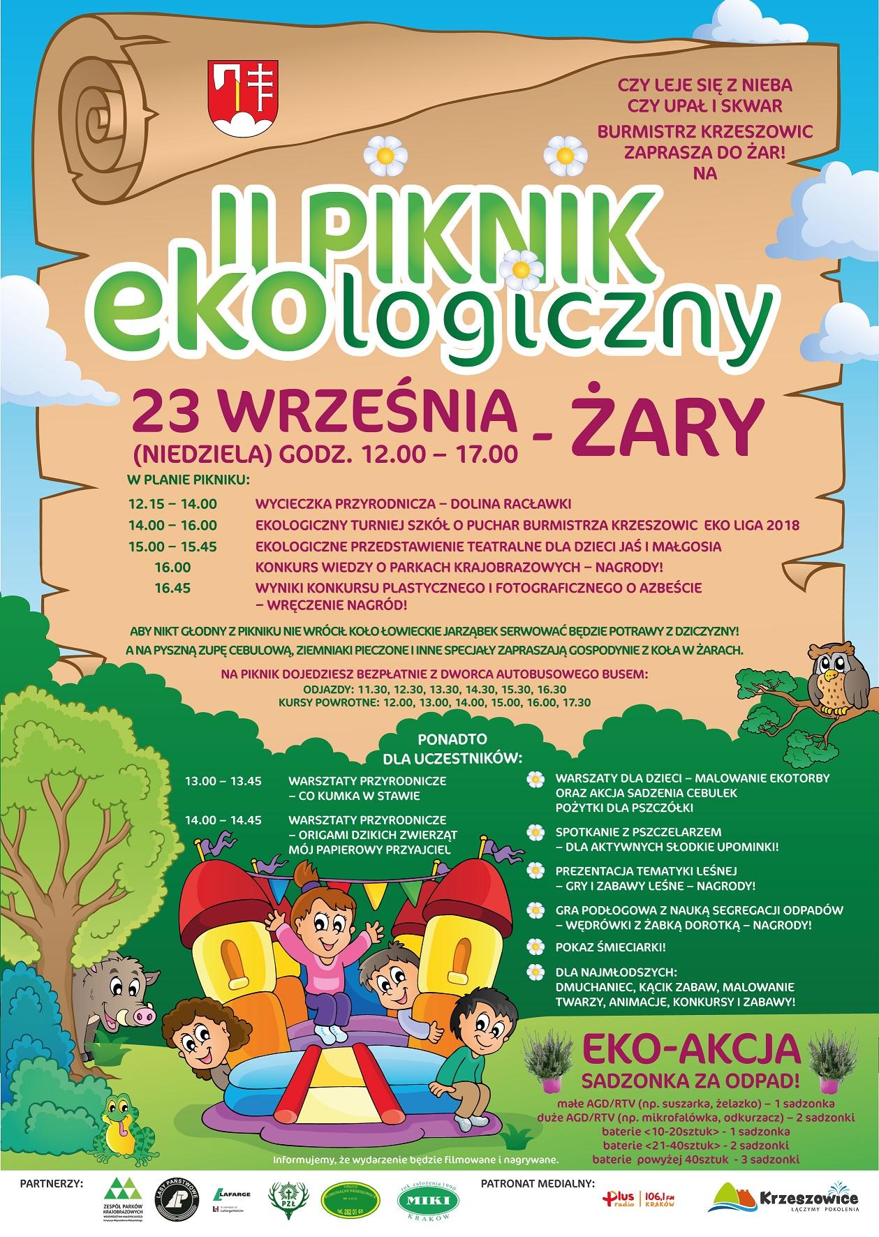 Zapraszamy na II Piknik Ekologiczny w Żarach