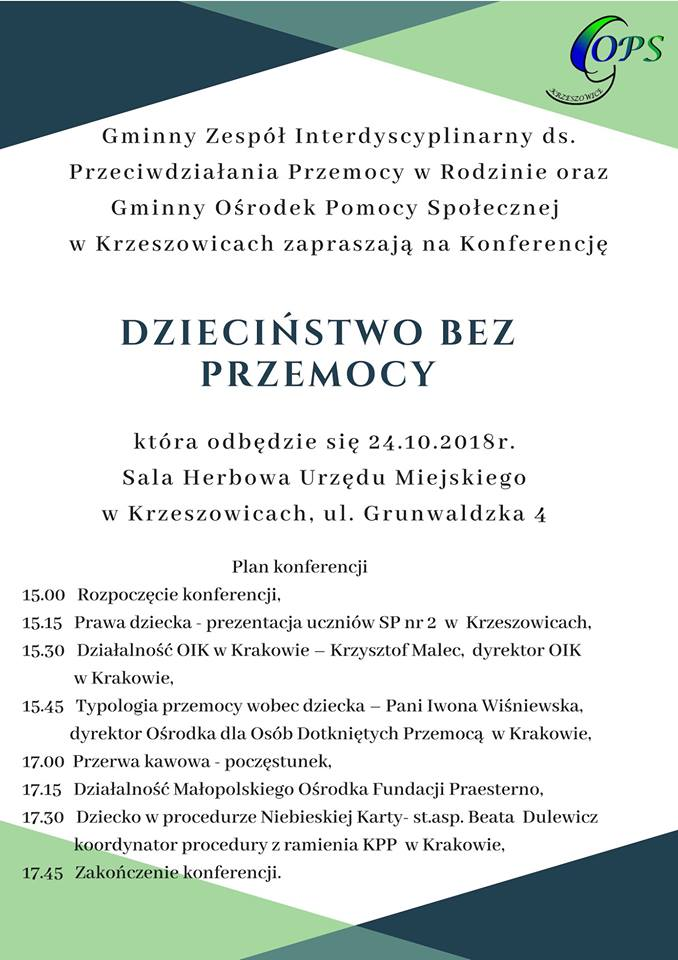 Konferencja Dzieciństwo bez Przemocy