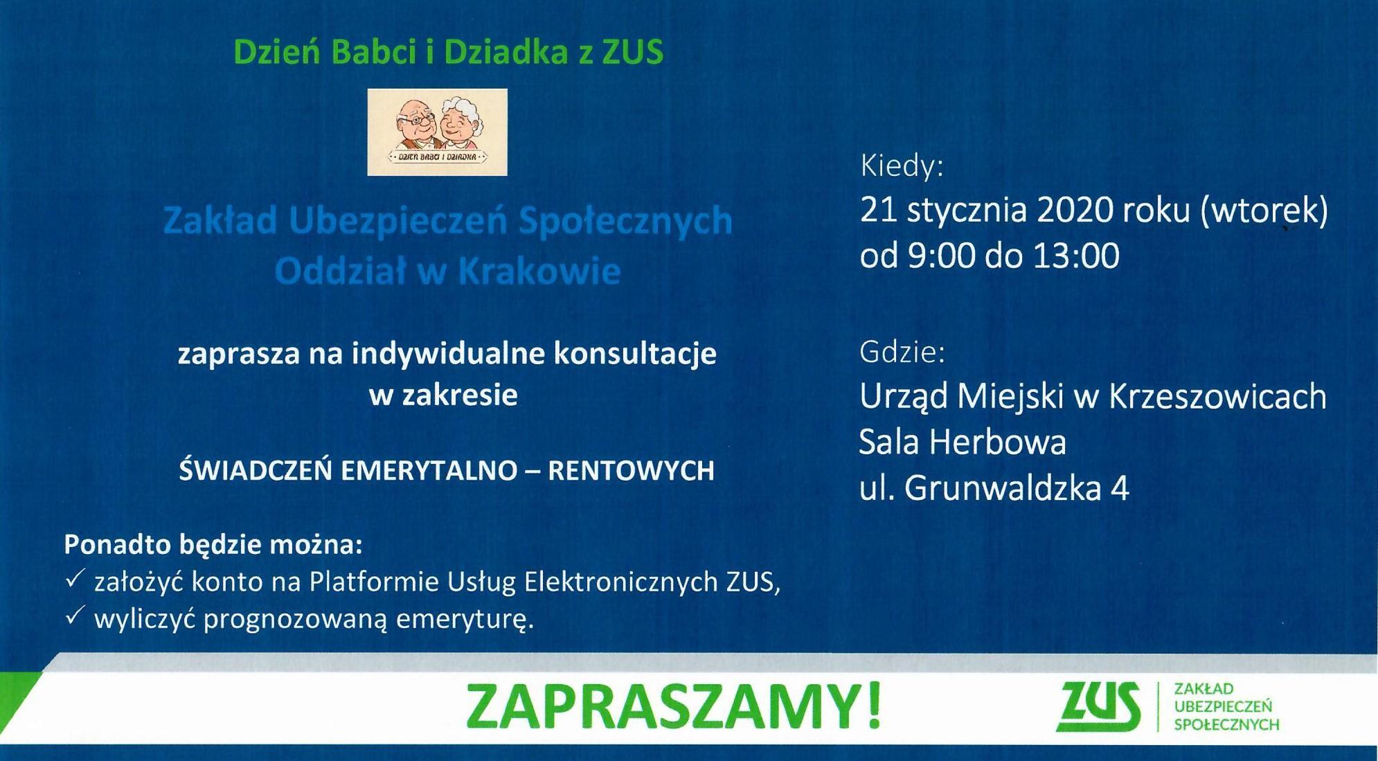 Dyżur eksperta ZUS w Krzeszowicach